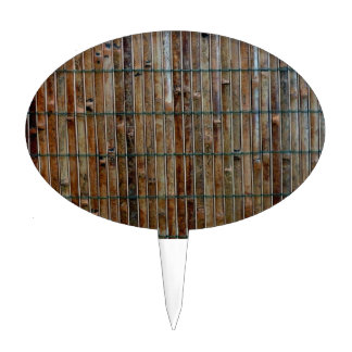 bamboo mat background cake topper