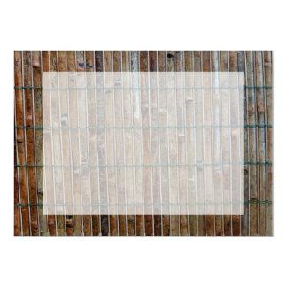 bamboo mat background card