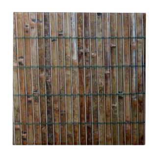 bamboo mat background ceramic tile
