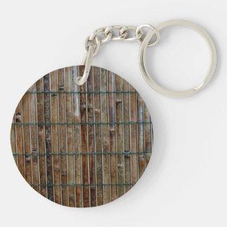 bamboo mat background Double-Sided round acrylic keychain