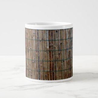 bamboo mat background giant coffee mug