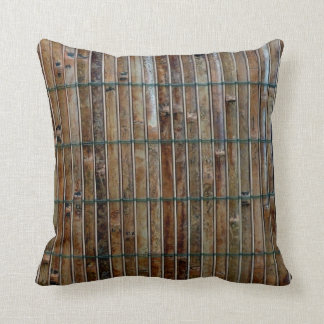 bamboo mat background throw pillow