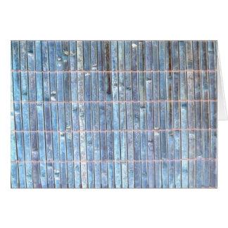 bamboo mat blue background card