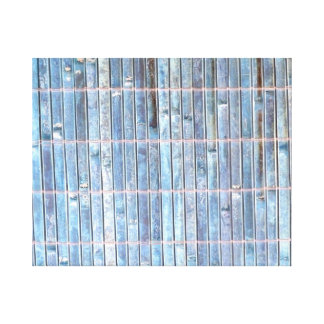 bamboo mat blue background stretched canvas prints