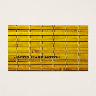 Bamboo Mat Business Card