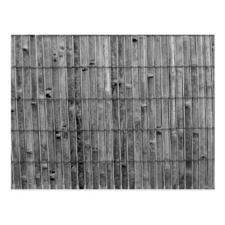 bamboo mat bw 2 background .jpg postcard