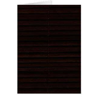 Bamboo Mat Card