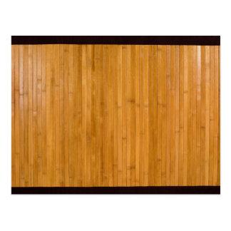 Bamboo mat postcard