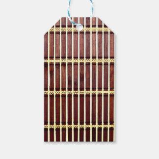 bamboo mat texture gift tags