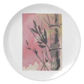 Bamboo Melamine Plate