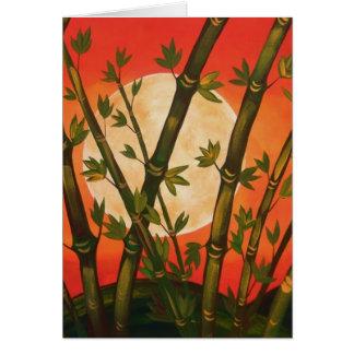 Bamboo Moon Card