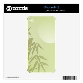 Bamboo Moon iPhone 4S Skins
