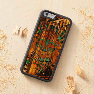 Bamboo Multicultural Buddha OPTICAL ILLUSION Carved® Cherry iPhone 6 Bumper