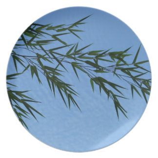 bamboo on sky of clouds dinner plate