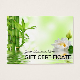 Bamboo Orchids Spa Salon Gift Certificate