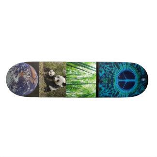 bamboo, panda-bear-d, earth, cust-peace skateboard