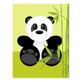 Bamboo Panda Bear Postcard