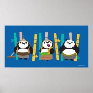 Bamboo Pandas Poster