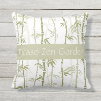 Bamboo Pattern Personalized Outdoor Pillow