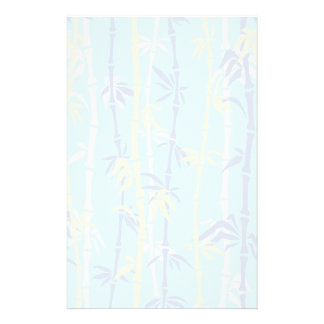 Bamboo pattern turquoise, blue, yellow custom stationery