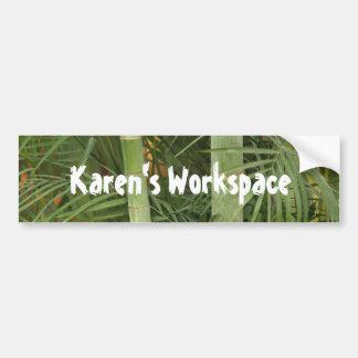 bamboo personalized sticker