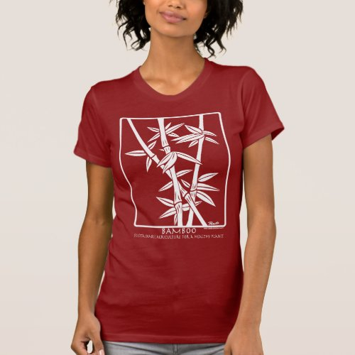 Bamboo Plant _ white on dark colors T_Shirt