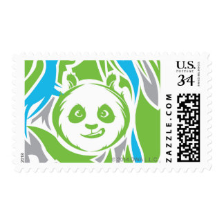 Bamboo Po Pattern Postage Stamp