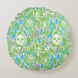 Bamboo Po Pattern Round Pillow