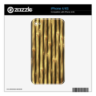 Bamboo Poles Patterned iPhone 4S Skins