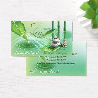 Bamboo Pond Zen Therapist Business Card