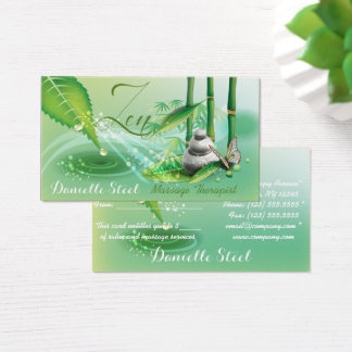 Bamboo Pond Zen Therapist Gift  Business Card
