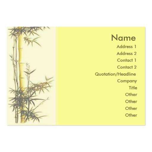 Bamboo Profile Card Business Cards Zazzle