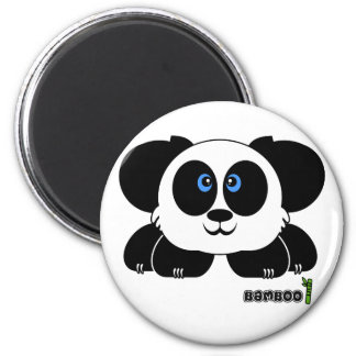 Bamboo Pudgie Pet 2 Inch Round Magnet