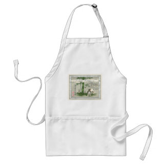 Bamboo Puppy Vintage Japanese Silk Label Aprons