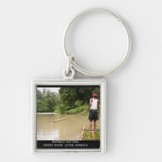Bamboo Rafting Great River Lethe Jamaica Keychain