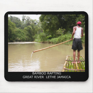 Bamboo Rafting Great River Lethe Jamaica Mouse Pad