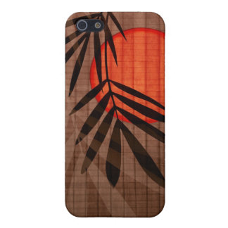 Bamboo & Red Moon Tropical Customized Template iPhone SE/5/5s Case