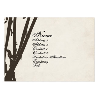 Bamboo Retro Vintage Business Card