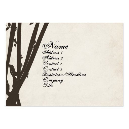 Bamboo Retro Vintage Business Card Zazzle