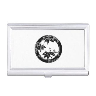 Bamboo ring with bamboo leaves case for business cards