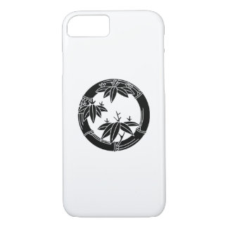 Bamboo ring with bamboo leaves iPhone 7 case