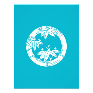 Bamboo ring with bamboo leaves letterhead