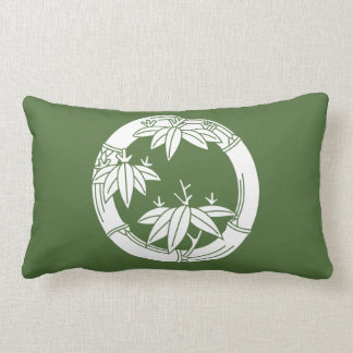 Bamboo ring with bamboo leaves lumbar pillow
