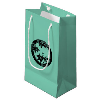 Bamboo ring with bamboo leaves small gift bag