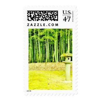 """Bamboo Scene"" JTG Art Postage Stamp"