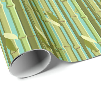 Bamboo Shoots and Leaves Custom Wrapping Paper