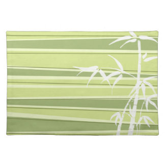 Bamboo Silhouette Striped Green Placemat