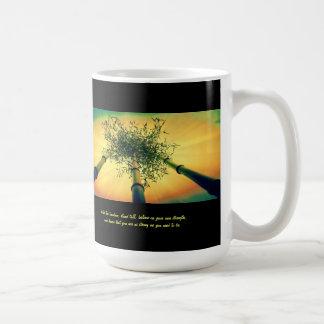Bamboo Sky Mug with quote