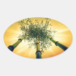 Bamboo Sky Oval Sticker