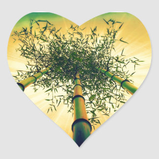 Bamboo Sky Heart Sticker